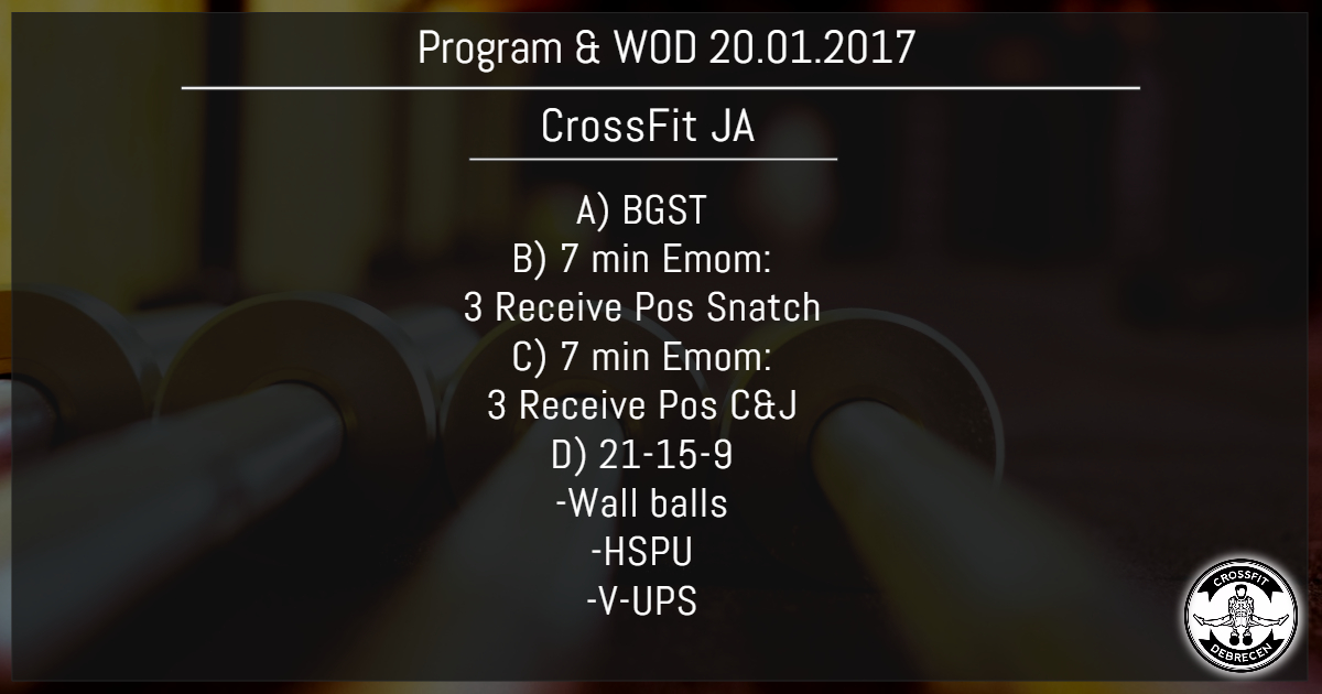 CrossFit Program & WOD 20.01.2017
