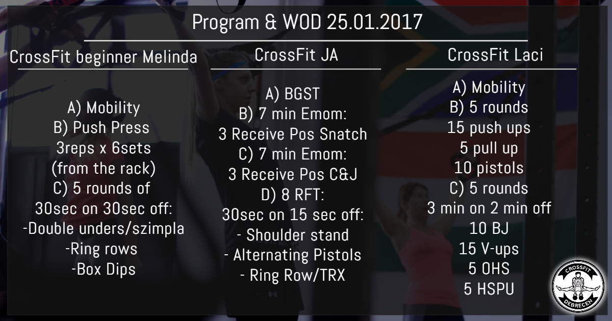 CrossFit Program & WOD 25.01.2017